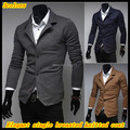 Free shipping New arrival Men's elegant blazer style keep warm single breasted fashion casual coat QR-1455