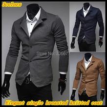 Freies verschiffen Neue ankunft männer elegante blazer stil warm einreiher fashion mantel lässig QR-1455
