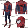 Hero Catcher High Quality 3D Cobwebs Amazing Spiderman Costume With Relief Spider