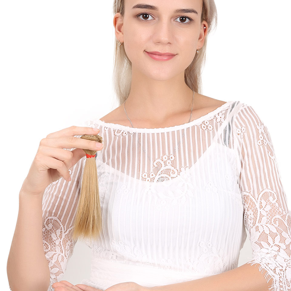 Bybrana Long Straight High Temperature Fiber 15cm*100cm BJD Wigs DIY Hair For Doll