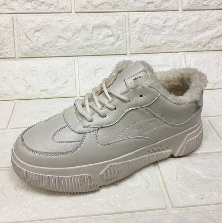 Laine slip Épais Chaud D'hiver Coréenne Le Non De Beige En La Chaussures Version Semelle 2018 Velours Étudiant Plus Coton Nouvelle Sauvage Cuir TZqUgPwg
