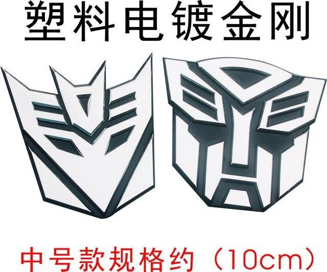 3d Auto Sticker Transformers Autobot Logo Optimus Prime En Megatron