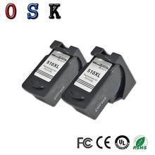 OSK 2PK For Canon PG510 PG-510 510 Ink Cartridge for MP240 MP250 MP280 MP480 MP490 MP492 MX320 MX330 Jet Printer