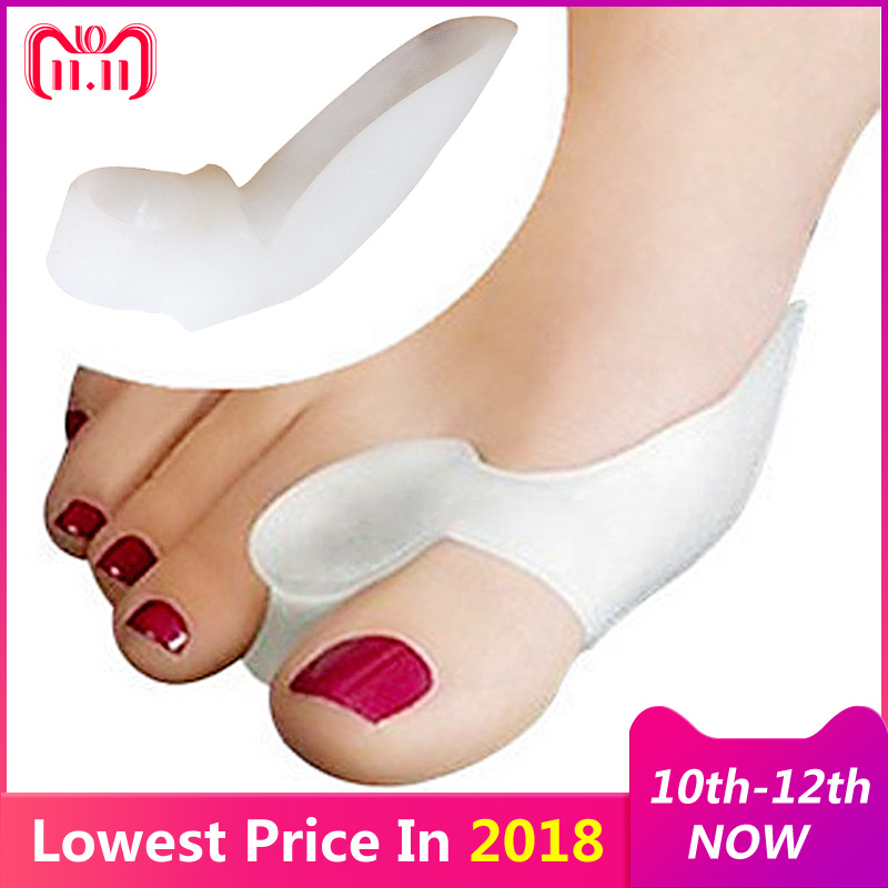 1Pair Foot Care Toes Separators Finger Beetle-Crusher Bone Ectropion Stretchers Bunion Corrector Hallux Valgus Straightener цены