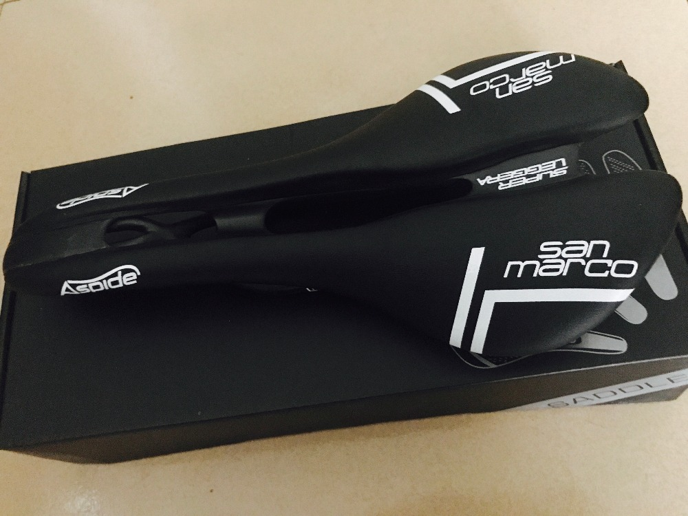 3 color San Marco ASPIDE saddle road bike Carbon Fiber Leather seat mtb saddles bicycle sillin bici Rail bow cushion black white multi color full carbon saddle road bicycle saddle and seat women bike saddle sillin bicicleta selim carbono