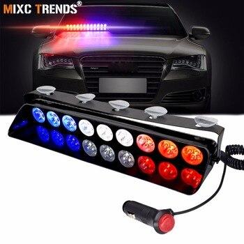 משטרת חירום אור 12 V רכב דאש שמשה קדמית צ 'קלקות נצנץ LED Visor לרכב מהבהב אזהרת אור Strobe חירום אור