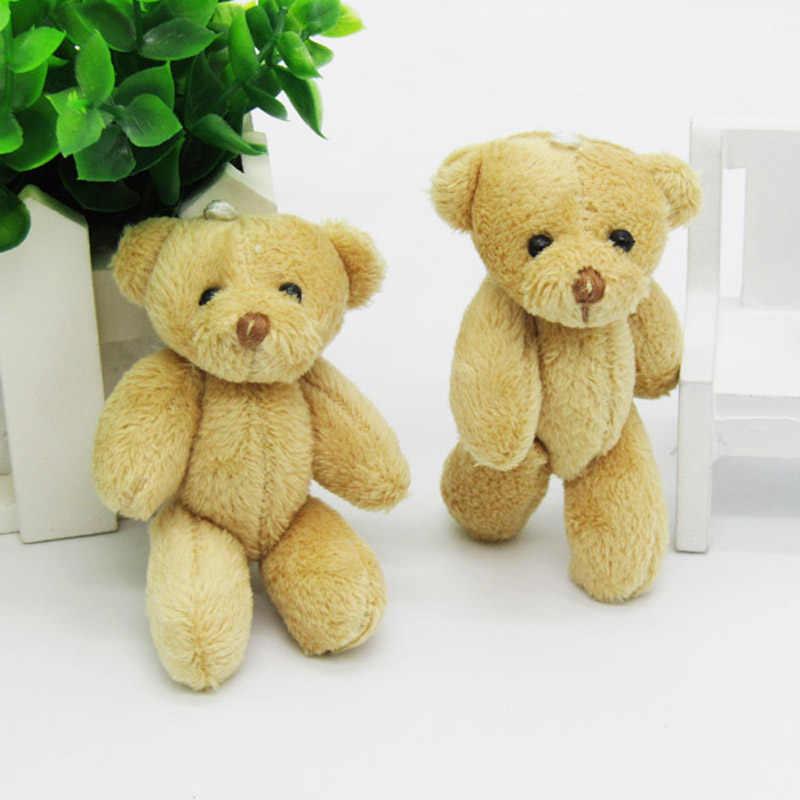 100 PÇS/LOTE Kawaii Pequeno Ursos de Pelúcia Conjuntas Bicho de Pelúcia 8 CM/3.2 ''Brinquedo de Pelúcia-Urso Mini Urso o ted Tem Brinquedos De Pelúcia Presentes Marrom 02