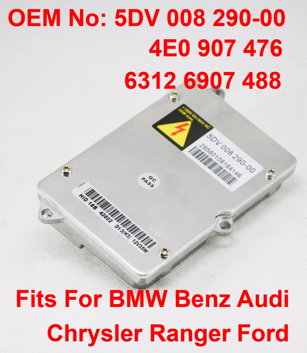 1x 12V 35W D2S D2R OEM HID Xenon Headlight Ballast 4E0907476 63126907488 0028202326 5DV00829000 For BMW Benz Audi Chrysler Ford in Car Light Accessories from Automobiles Motorcycles