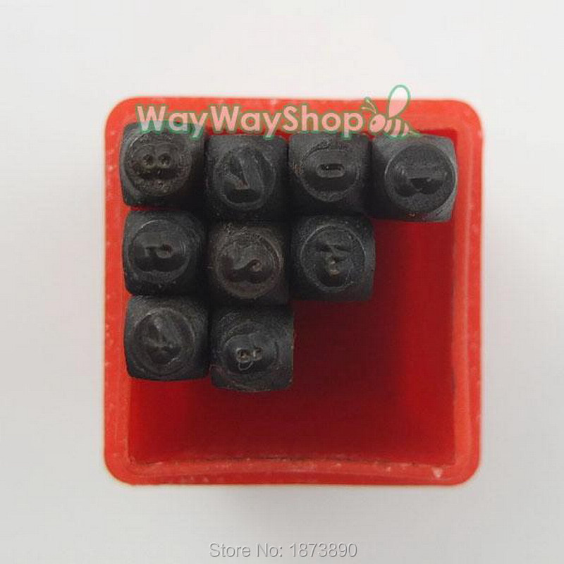 2mm 3mm 4mm number die punch letter steel stamp in case for jewelers set metal