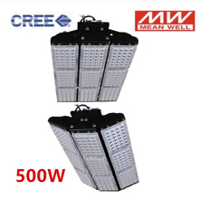 Industrial CREE LED Chip+Meanwell Driver LED Flood Light 100W 150W 200W 300W 500W LED Tunnel Lamps Engineering Project Lighting cheap Flood Lights 85-265V ROHS LED Bulbs Modern IP68 Wedge Paint Spraying Aluminum Outdoor Wall YRANK