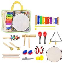 22 Pcs Toddler Musical Instruments Set Percussion Instrument Toys Toddler Musical Toys Set Rhythm Band Set Birthday Gift for T цена в Москве и Питере