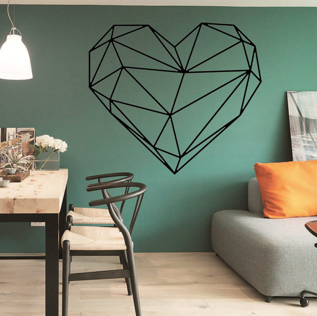 new arrival geometric carved north european style heart shaped