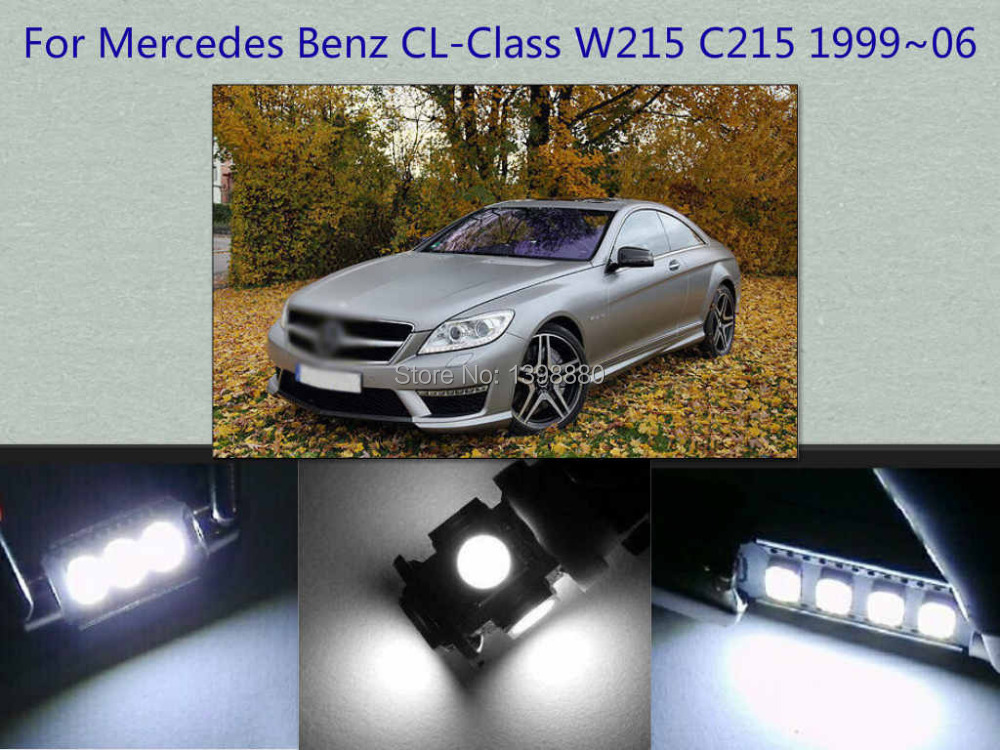 Error Free Canbus 14PCS White LED Interior Package kit For W215 C215 1999~2006 Map Dome Box Trunk Courtesy Tag Lights