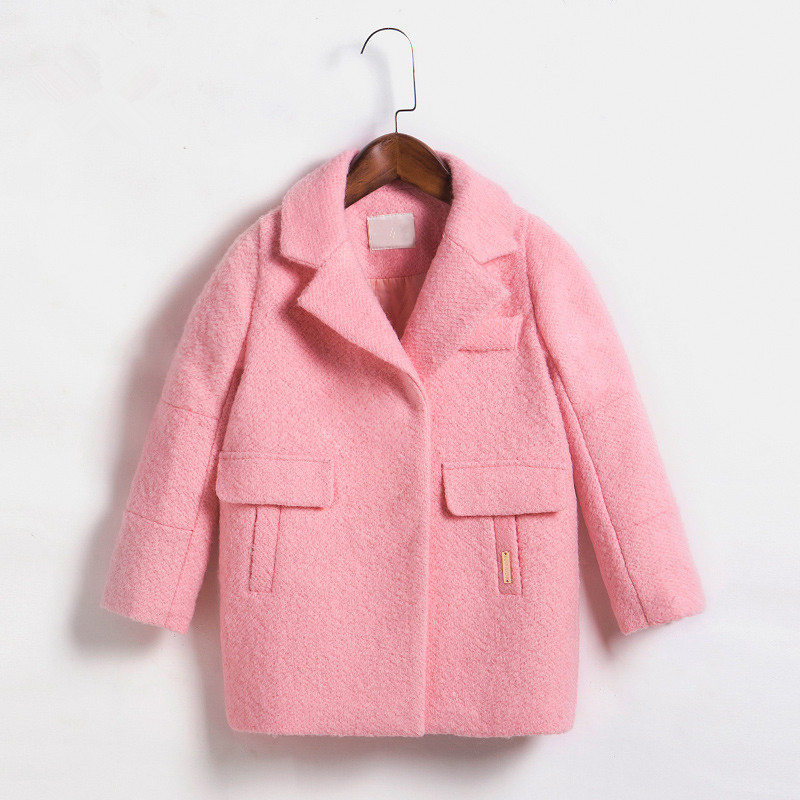 DFXD New Teens Girls Outwear Autumn Winter Long Sleeve Soild Coat High Quality Korean Girls Jackets Princess Coats 3-12Years