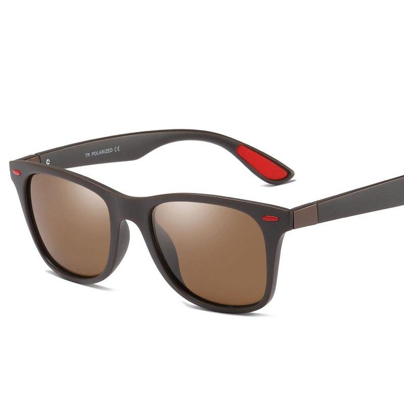 brown Tr90 Oculos Cornice Marca Uv400 Blu Raggi Classic Degli Donne Progettista Uomini Polarizzati Red Occhiali Del Sole black grigio Calda Di Nero Maschili Gafas il Guida Da WZFn7