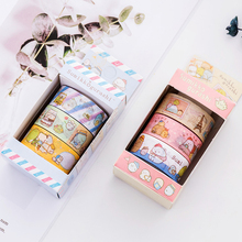 3Pcs/box Japanese SumikkoGurashi Masking Washi Tape Scrapbooking Set Kawaii DIY Bullet Journal Decorative Adhesive Supplies