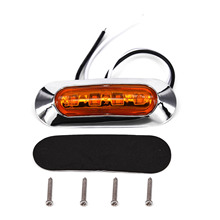 10Pcs 2W 50000 Hours lifespan Amber SMD LED Side Marker Tail Light Clearance font b Lamp