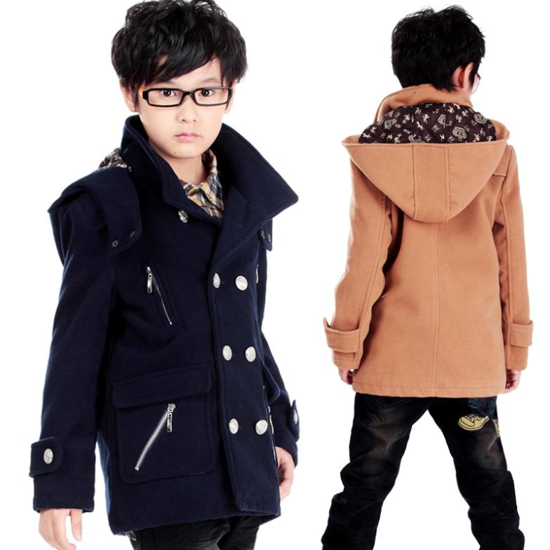 027bf615e0b20 Boys Jacket Clothes 2014 New Winter Coat for Children long design Kids Jackets  Coats boys qualities double breasted style