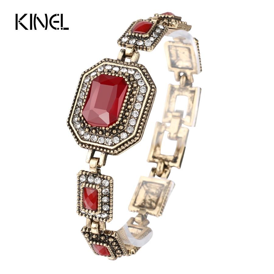 Red Crystal Bracelet Gold...