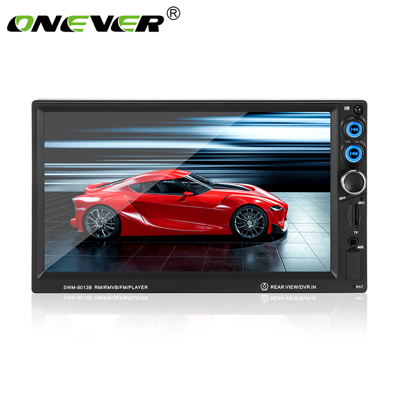 Onever 2 Din Car Radio Stereo MP5 Player 7 Digital TFT Touch Screen Bluetooth Multimedia 1080P
