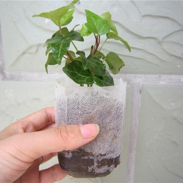 Whole 1000 Pcs Plant Fiber Nursery Pots Seedling Raising Bag Garden Supplies Can Degrade