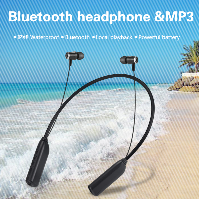 IPX8 Waterproof Mp3 Player Aptx 8GB 16GB Sports Bluetooth Headset Music Player Walkman Diving Swimming Earphone Headphone