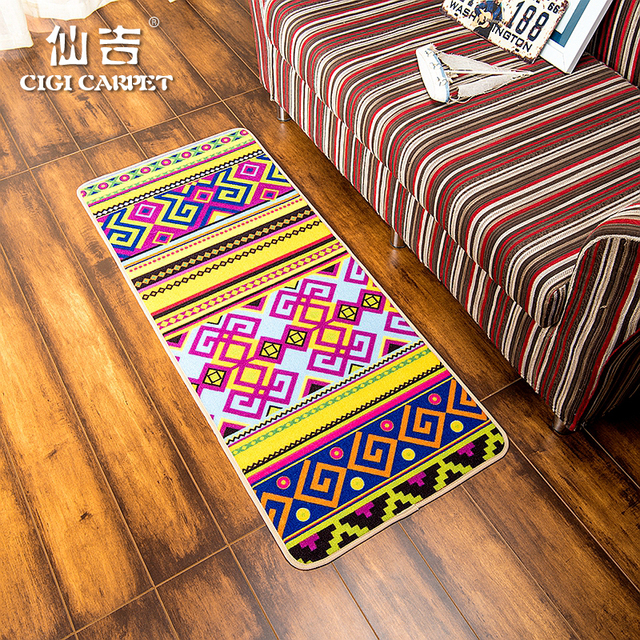 CIGI Modern Folk Style Creative Home Carpet Stripe Blanket Bedroom Living  Room Carpet Kitchen Hallway Floor