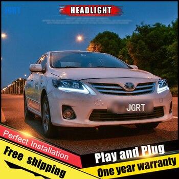 Car Style LED headlights for Toyota Corolla  11-13 for Corolla head lamp LED Lens Double Beam H7 HID Xenon bi xenon lens
