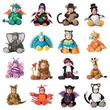 Детский костюм-комбинезон с животными для маленьких мальчиков и девочек; одежда для малышей на карнавал и Хэллоуин; костюм для мальчиков; комбинезоны для девочек; Одежда для младенцев