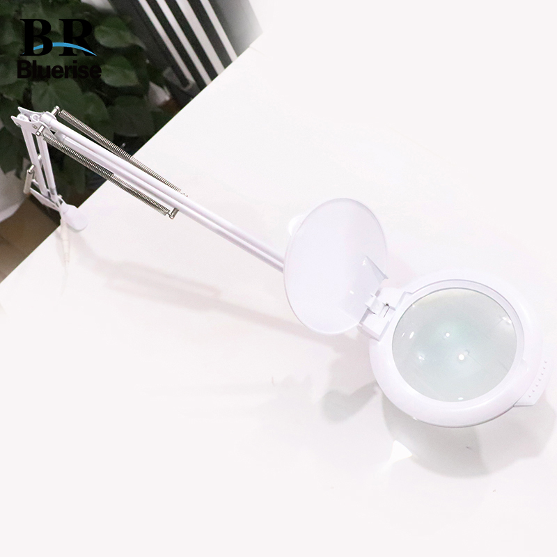 Manicure Table Lamp LED Magnifier Lamp 2 in 1 Adjustable Stand For Professional Salon Beauty Manicure