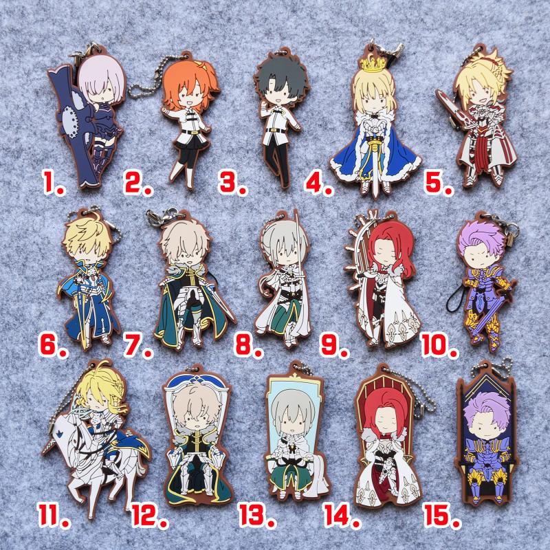 Fate/Grand Order Anime FGO Mash Fujimaru Ritsuka Altria Saber Rubber Strap KeychainFate/Grand Order Anime FGO Mash Fujimaru Ritsuka Altria Saber Rubber Strap Keychain