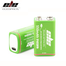 USB 9V rechargeable battery 550mAh lithium ion cell for microphone metal detector multimeter Gamepad