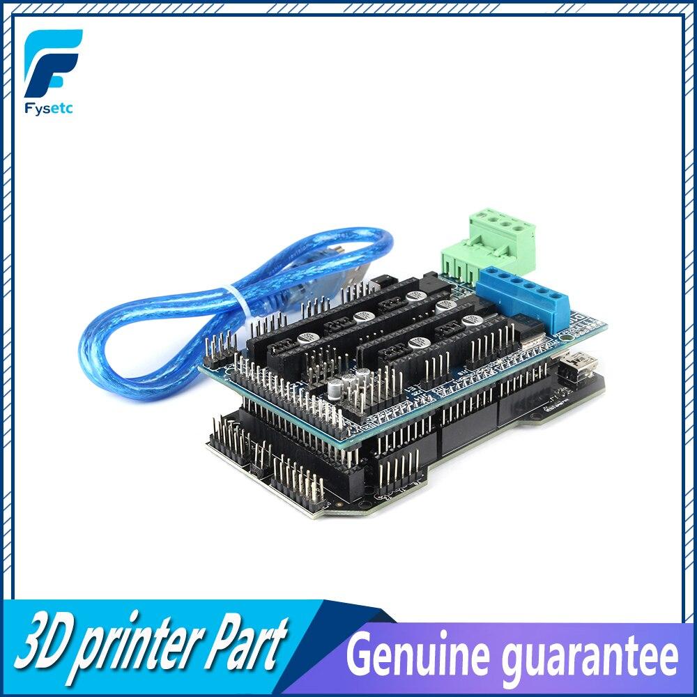 RE-ARM 32Bit carte de contrôle mise à niveau Mega 2560 R3 + 5 pièces TMC2130 v1.0 moteur pas à pas pilote + rampes 1.5 panneau de commande imprimante 3D partie - 3
