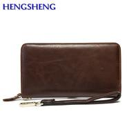 Hengsheng Promotion Genuine Wallets For Gentlemen Long Wallets Of Cow Leather Long Men Wallets From Women