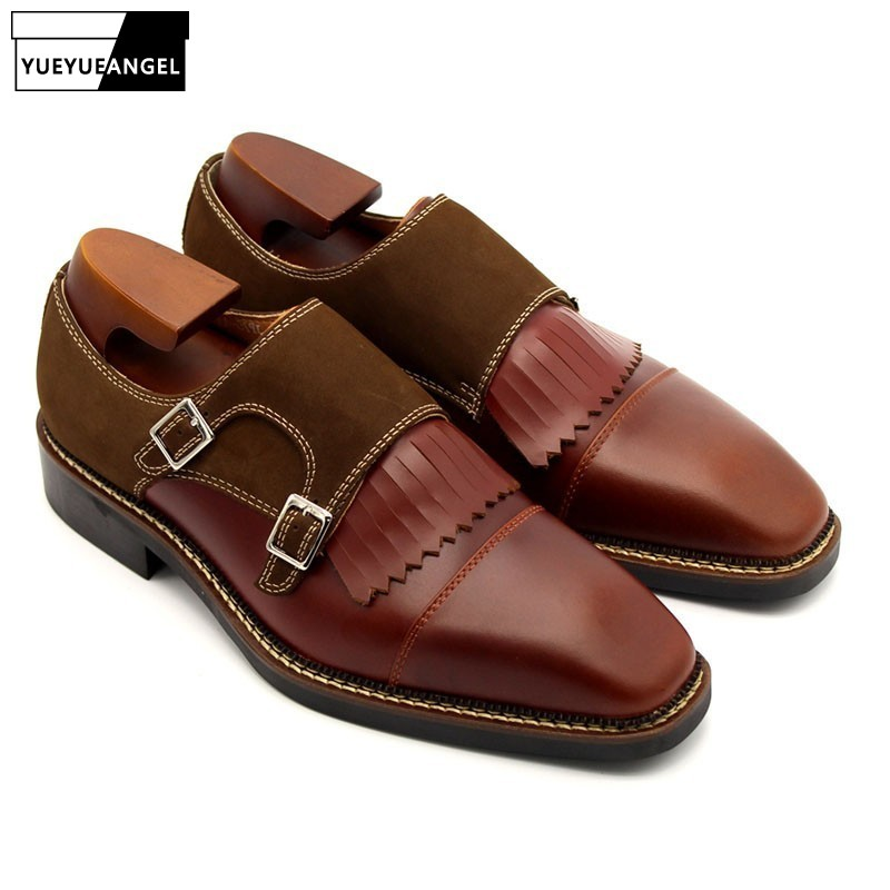 New Brown Mens Shoes Genuine Leather Office Shoes Tassel Square Toe Male Social Shoe Moccasins For Men Loafers Plus size US 11.5New Brown Mens Shoes Genuine Leather Office Shoes Tassel Square Toe Male Social Shoe Moccasins For Men Loafers Plus size US 11.5