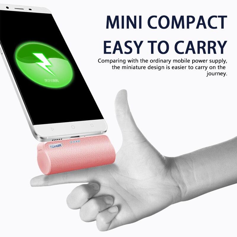 NOHON Wireless Mini 3000mAh Power Bank Charger For iPhone Xiaomi Huawei Samsung 1
