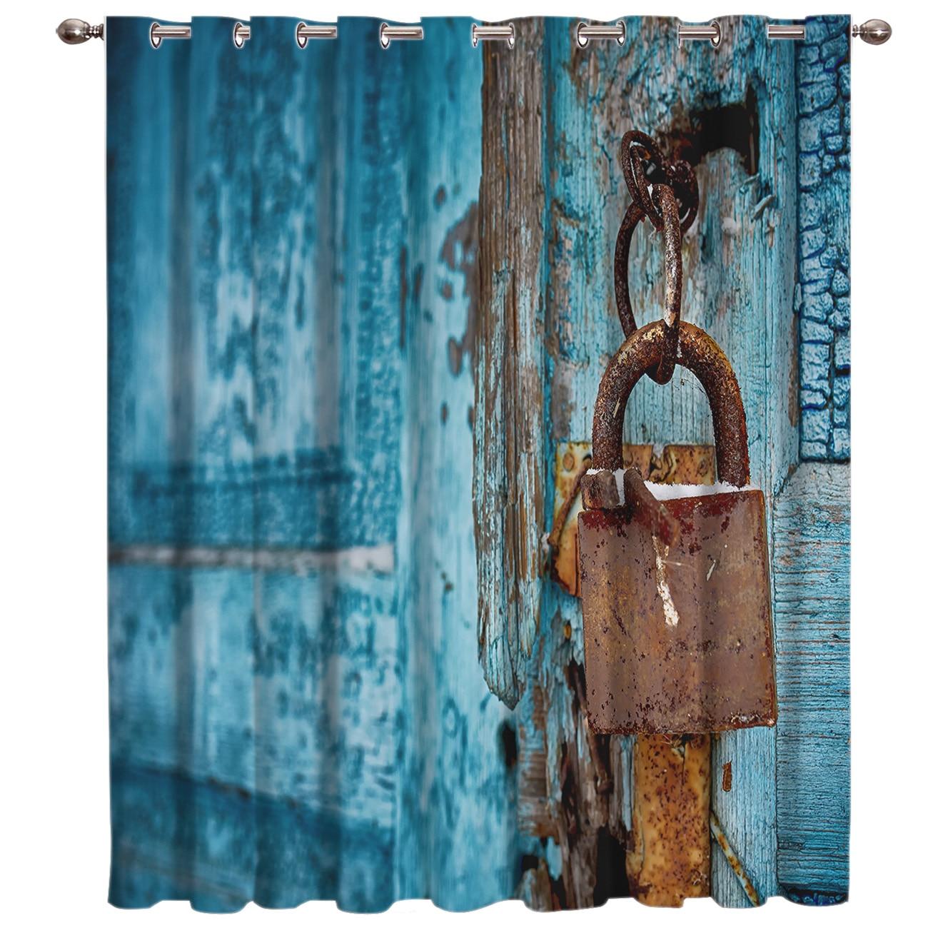 Old Door Lock Window Treatments Curtains Valance Bathroom Outdoor Indoor Decor Kids Window Curtain Panels Curtains And Drapes