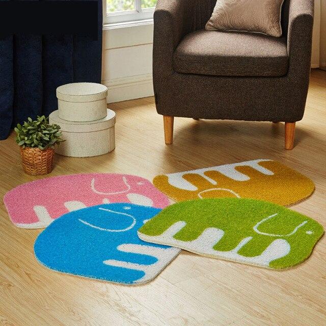 50x60 cm Elefanten Form Cartoon Teppich PVC Pad Fußmatten Küche ...