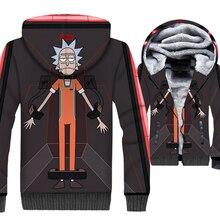 New Rick And Morty Jackets Sweatshirts 3D Print Unisex Mens Hoodies Scientist Men/Women Brand Anime Thick Winter Jacket Coats