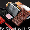 For Xiaomi Redmi 4X Case Luxury Crocodile Snake Leather Flip Cover Card Slot Business Wallet Phone