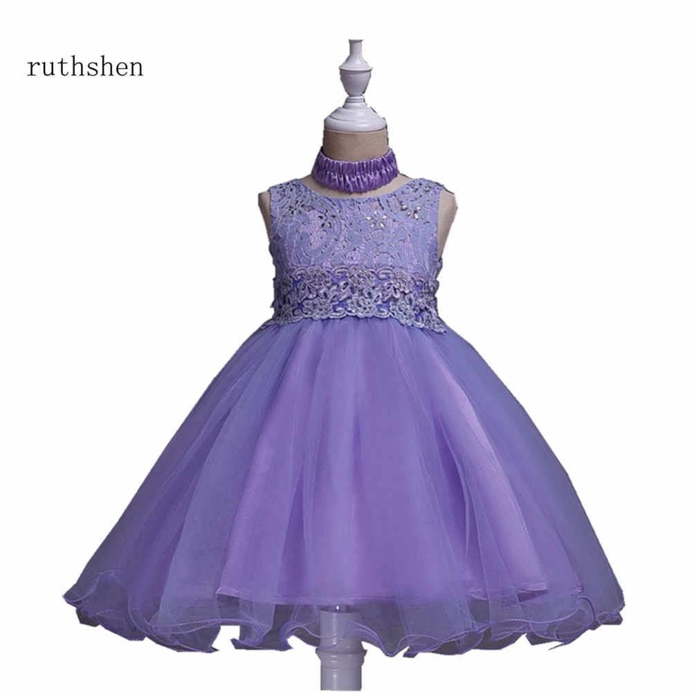 ruthshen New Arrivals   Flower     Girls     Dresses   For Weddings With Pearls Beaded Little Kids Floor Length Ball Gowns Pageant   Dress