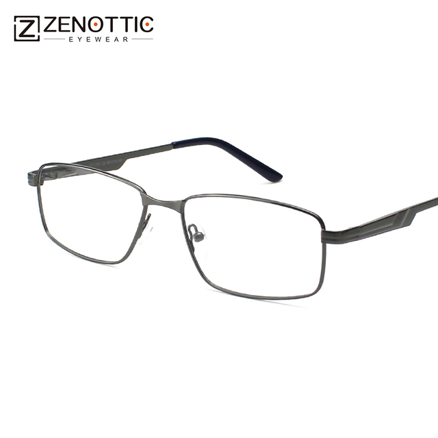 fcfeafbb2a ZENOTTIC Fashion Brand Design Eyeglasses Frames Men Clear Lens Optical Eye  Glasses Frame Non-Prescription Spectacle Male