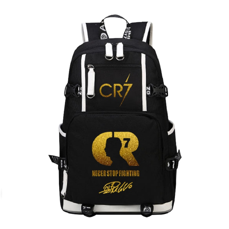 Ronaldo Messi Canvas Backpack Men Women Large Capacity Travel Bag CR7 Backpacks Boy Girl School Bag For Students Casual Rucksack