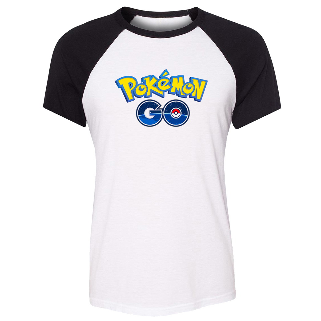 Anime font b Pokemon b font Go Game Raglan T Shirt Summer Short Sleeve Women s