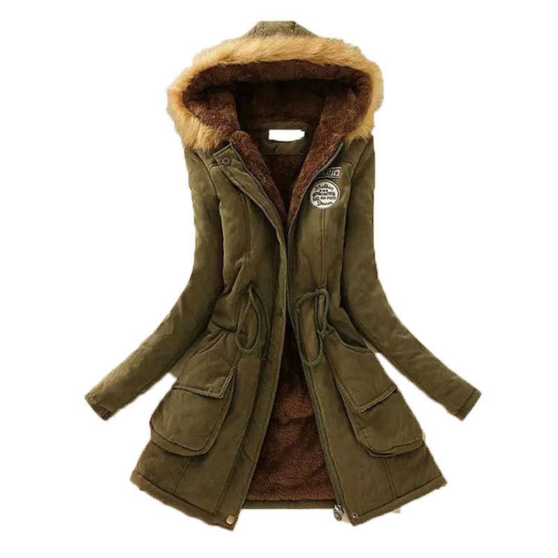 LITTHING 2019 Women Fluffy   Parkas   Female Women Coats Thicken Warm Cotton Winter Hooded Jackets Women Outwear   Parkas   Plus Size