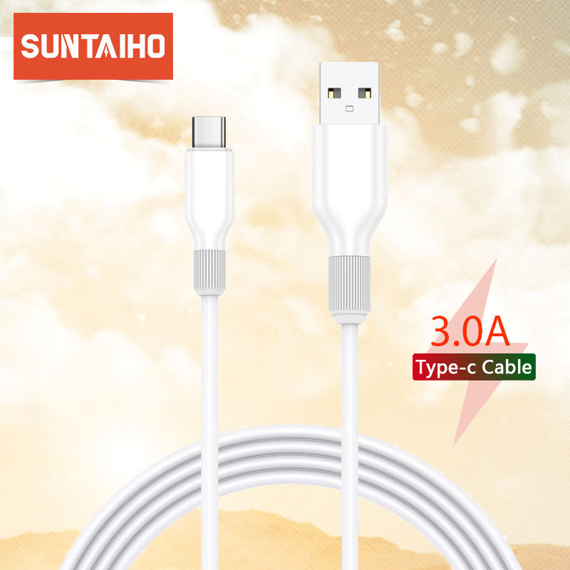 Suntaiho USB Type C Cable For Xiaomi Redmi Note 7 K20 Pro Samsung A50 Huawei Fast Charging USB C Charger Mobile Phone USBC Cable|Mobile Phone Cables|   - AliExpress