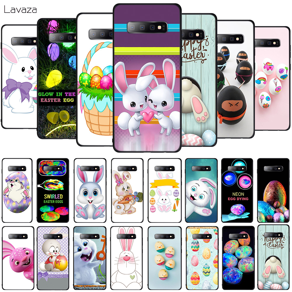 Lavaza Easter bunny easter eggs Soft Phone Cover for Samsung Galaxy S8 S9 S10 Plus A6 A8 A9 2018 A30 A50 TPU Case in Fitted Cases from Cellphones Telecommunications