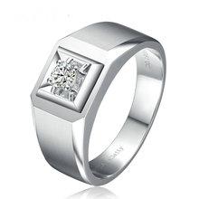 0 19ct Natural Diamond Wedding Ring for Men Solitaire 18K font b White b font font