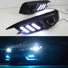 Castaleca 2X Daytime Running Lights DRL LED fog lights for c ivic 10th generation two-color models and three-color models