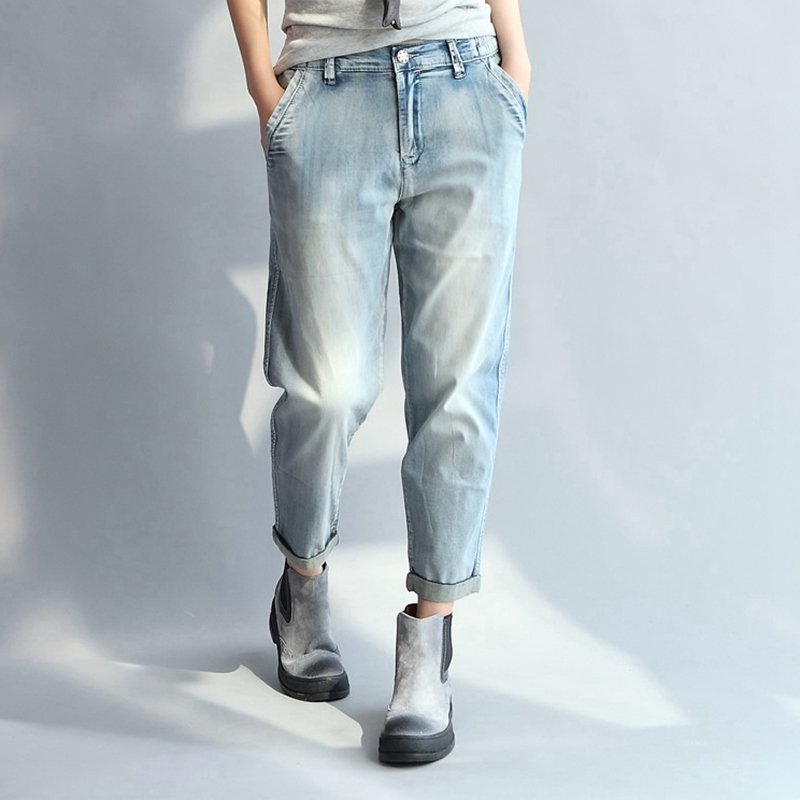 Summer Casual Womens Jeans Women Loose Thin Denim Pants Jeans Vintage Cool Slim Fit Pants Party Women Jeans 2017 woman classic vintage jeans womens loose casual fringed false two piece cool denim jeans girl for women high waist pants